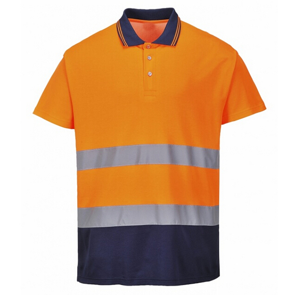 Custom print reflective safety polo shirt