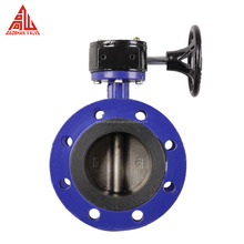 Cast Iron Gearbox Rubber Seal Flange Connection Butterfly Valve