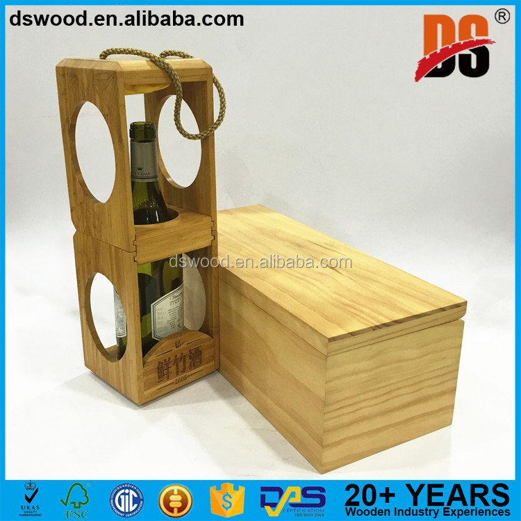 Newest Red Wine Box Cheap Wooden Wine Boxes Pine Wood Wholesale