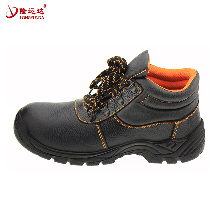 "New style waterproof pu 8"" leather work boots safety shoe"