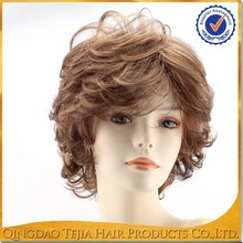 Popular Hot sale High quality new arrival Cheap synthetic short white people wigs