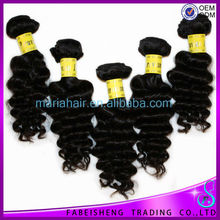 No shedding natural color 8-30 inch curly unprocessed raw human hair blend weave