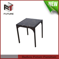 hot sale marble top table metal frame square coffee table
