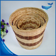 Home Garden Natural Handcraft Foldable Style Round Bamboo Laundry Basket With Removable Liner Bag Easy