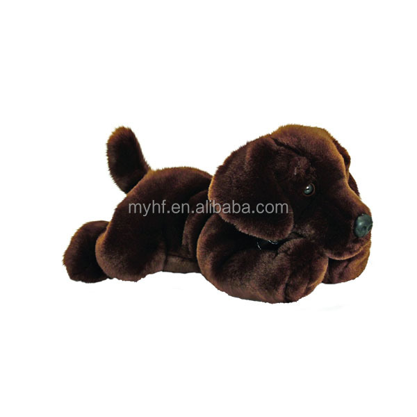 PV Plush 35 cm dog Chocolate Labrador plush toy