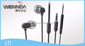 wired headphone metal headset earbuds