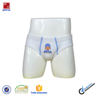Cheap Price White Cotton Young Boy Short Boxer Brief Underwear/ Boys Underwear Wholesale