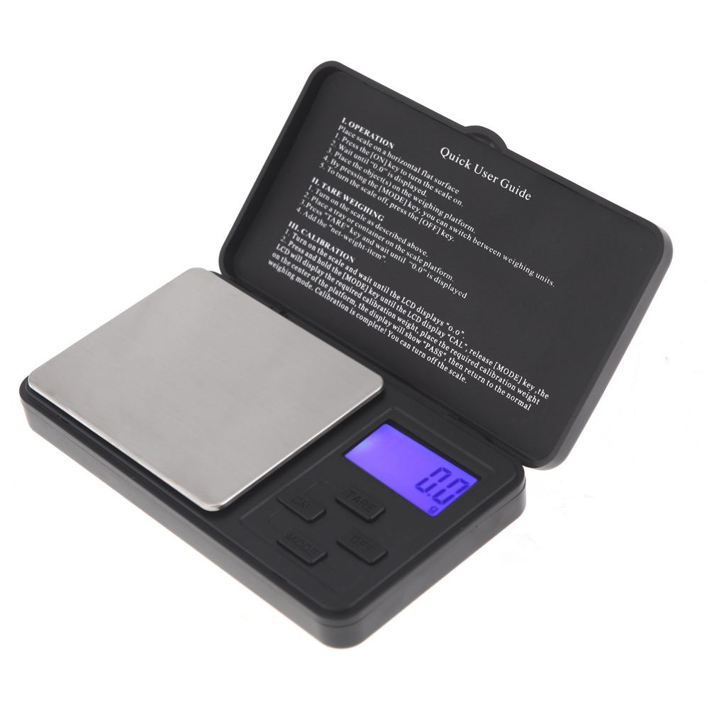 Backlight Electronic Digital Scale 1000g/ 0.1g LCD Display Digital Scale Weighing Scales Jewelry Gold Diamond Carat Balance