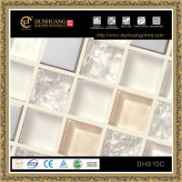 recycle matte cracked broken glass mosaic tiles