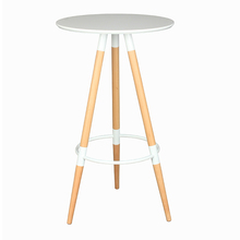 Stylish solid wooden leg home hotel living room hotel cafe bar furniture modern and useful cheap breakfast pub bar table