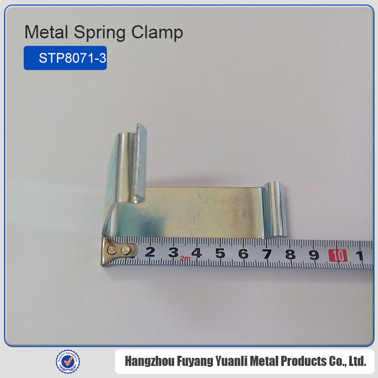 china metal glass balustrade with stainless steel clamps , cabinet crate clip