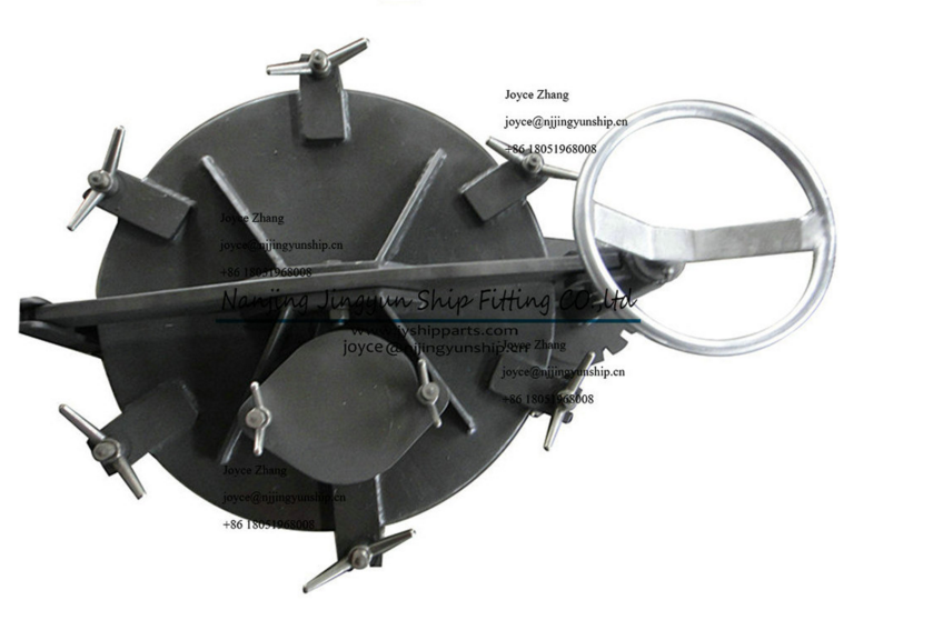 China Supplier Round Marine Stainless Steel Rotating Oil Tight Hatch Cover
