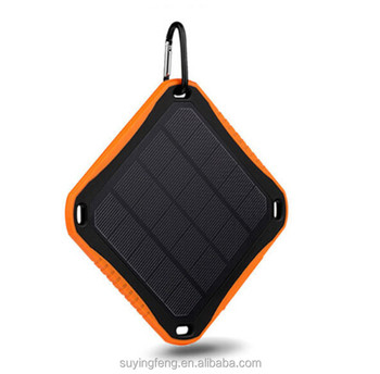 High quality portable solar power bank 5600mah with charger adapter