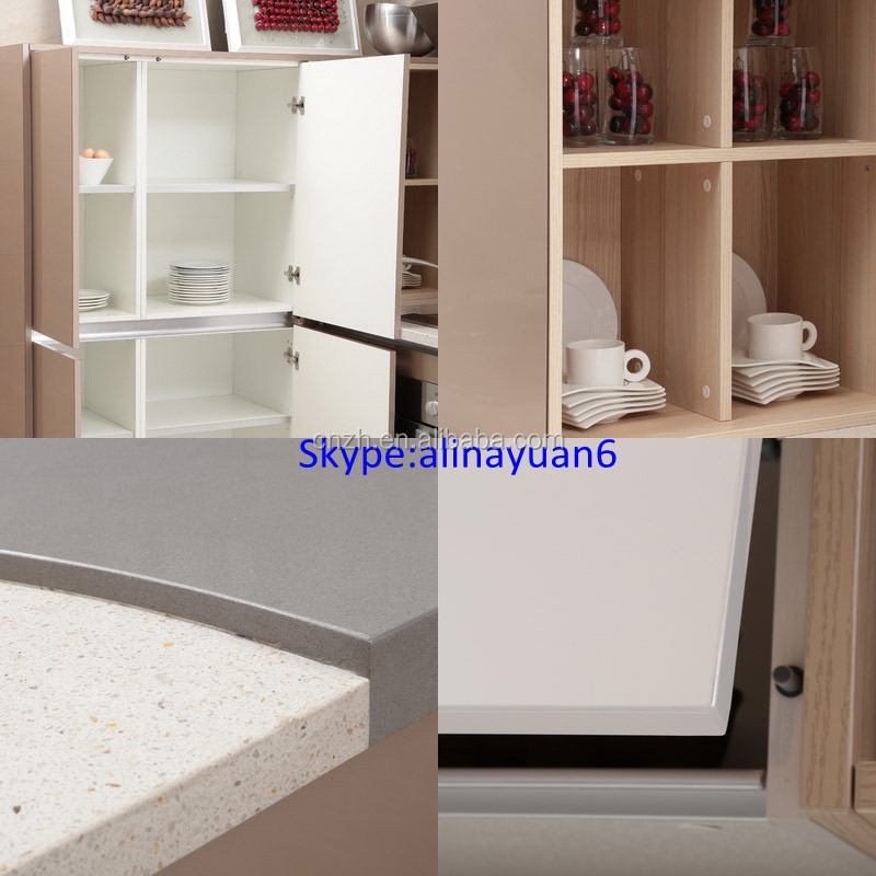 Modern High Glossy Kitchen Cabinet With Glass Doors - Buy ...