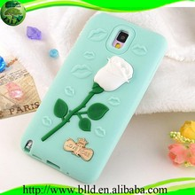 Flower Rose 3D Colorful Cover in silicone for Samsung note 3