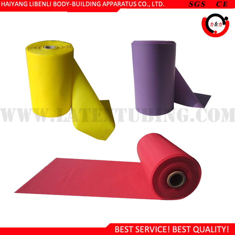 High Elasticity Theraband Type Latex Rubber Band Roll