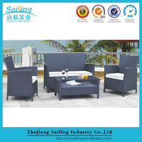 Sailing High Top Plastic Rattan Affordable Simple Patio Modern Sofa Set