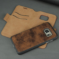 PU leather + PC, microfiber cell phone case for samsung s7 2 in 1 cases