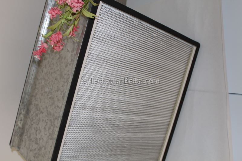Box constuction hepa filtration reusable furnace filters