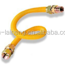 CSA 304 Flexible Stainless Steel Yellow-coated Gas Connector hose