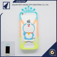 Fashion Design Silicone Rubber Lovely 3D Phone Skin Case Cover for iPhone 4 4s 5 5s