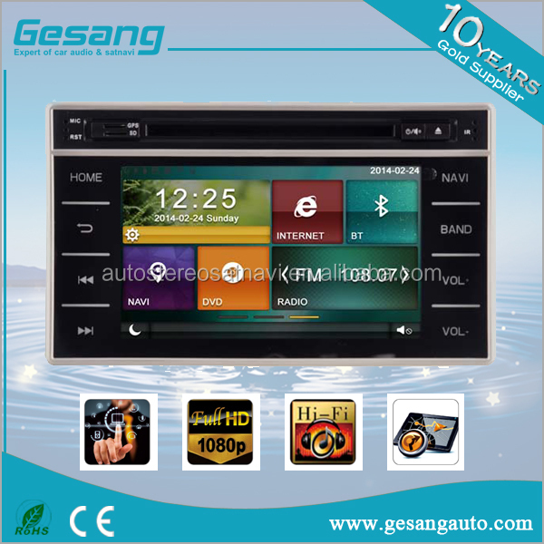 7 inch car dvd radio multimedia player gps navigation with SD Map card,built-in bluetooth for TOYOTA HILUX 2016