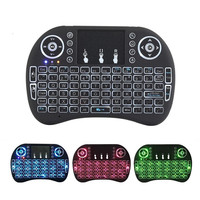 2.4G mini wireless Touchpad keyboard Backlight colorful for PC/Smart tv/Android tv box Arabic iptv air mouse gaming keyboard I8