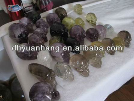 Natural cheap wholesale gemstone stone skulls,raw jade for sale