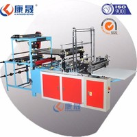 Heat-sealing &cold-cutting bag making machine of Double-line for HDPE flat bag form Taiwan device