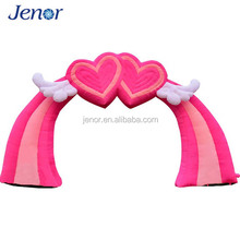 Pink Entrance Inflatable Wedding Arch with Heart