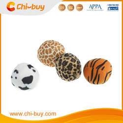 Durable Interactive Ployester Plush Tiger&Cow Print Ball Dog Squeaky Toy Free Shipping on order 49usd