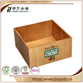BSCI &FSC handmade square pine brown wooden gift box