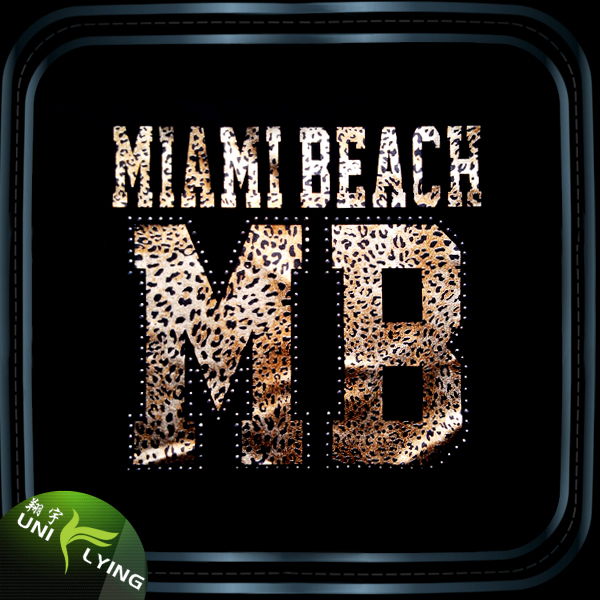 Holographic Miami Beach Iron On T-shirt Foil Transfer For Wholesale