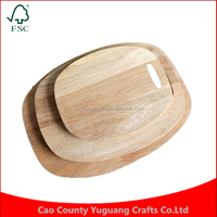 Custom Antibacterial Cooking Tool Kitchen Oak Chopping Board Fruit Vegetables Wooden Chopping Block Cutting Board
