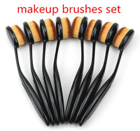 High Quality Makeup Brushes Free Samples, Oval Makeup Brush Set Cosmetic
