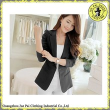 Korean style one button women suits