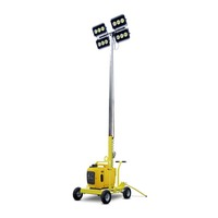 High mast 4*150W 4*1000W led portable mobile generator light tower with rain proof