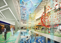 ETFE CUSHION PROJECT IN HURGHADA CITY CENTER SHOPPING MALL