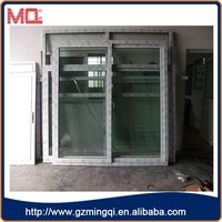 high quality blind inside double glass window/upvc sliding glass window