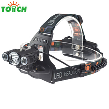3 * T6 bulb Brightness Portable Led Headlamp Moving Head Lights Outdoor Rechargeable Bike Light