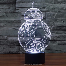 Cool Optical Illusion 3D Led Lamp Design 3D Table Lamp