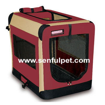 Collapsible Dog Soft Crate Metal frame Pet Dog cage