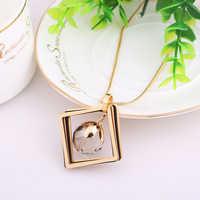 Artificial Gold Trendy Long Sweater Chain Necklace
