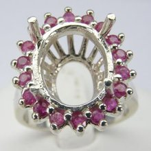 Semi-Mount Ring Silver Ruby