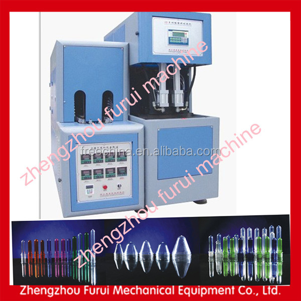 Plastic bottle 5 gallon pc bottle blow molding machine/semi auto pet bottle blowing machine