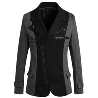 wholesale high quality cheap price cotton/polyester mixed 2colors 4size men blazer designs