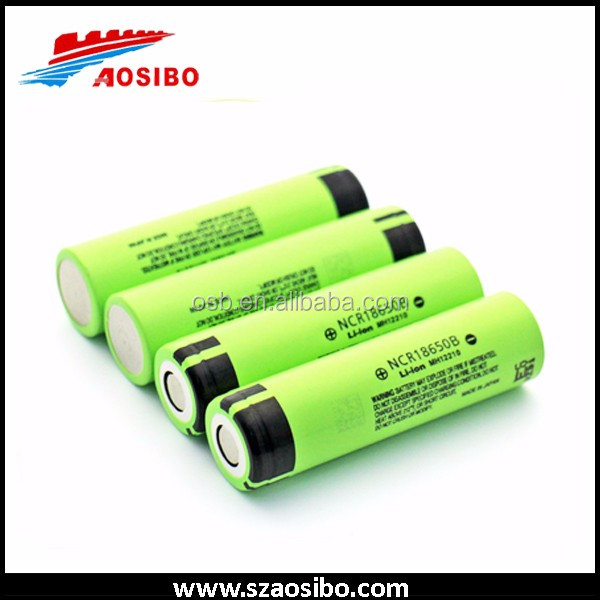 Wholesale 18650 lithium ion rechargeable battery NCR18650B 3400mah 3.7V battery made in Japan from Aosibo