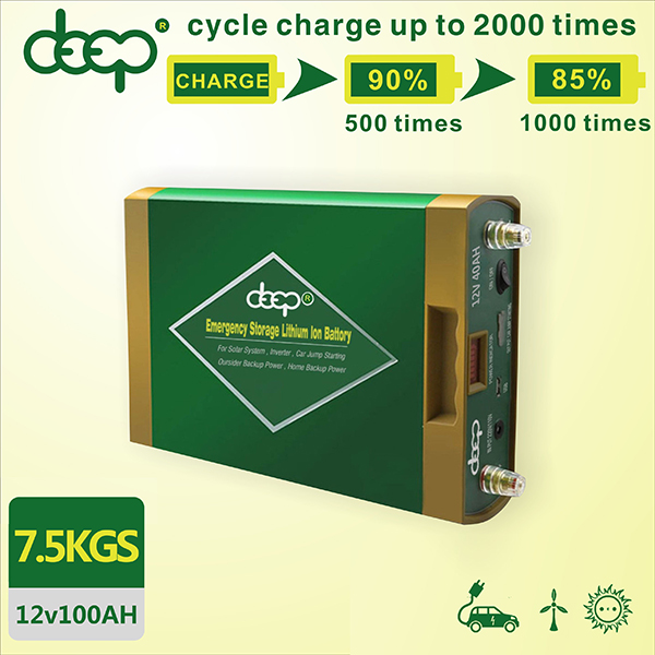 Deep cycle long discharge replacing lead acid battery 12V lithium battery 40AH 60AH 100AH for car jump start