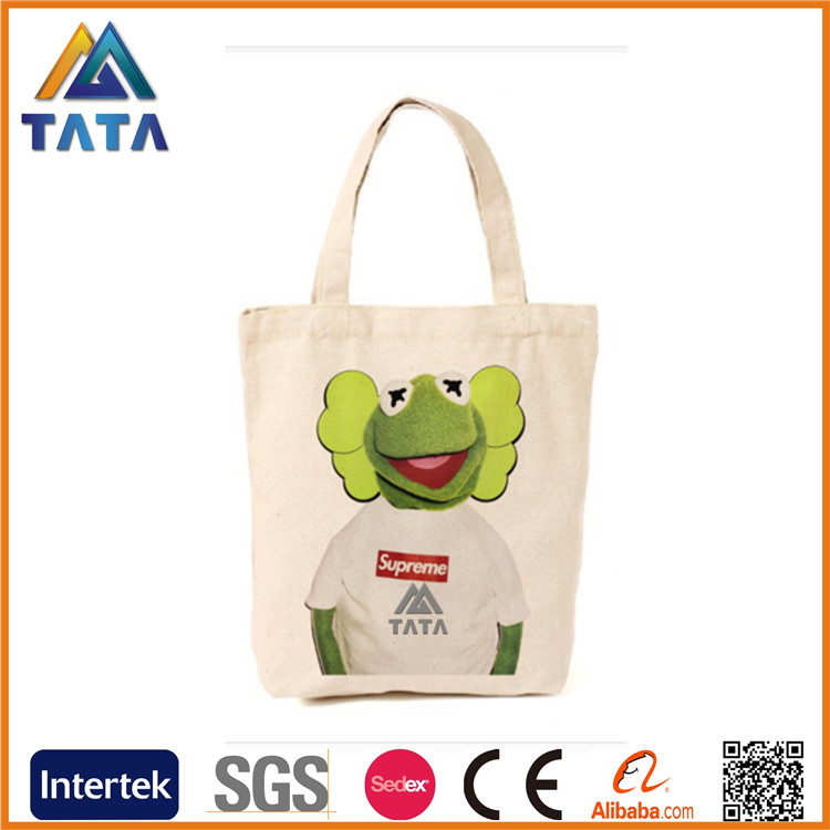 TATA Wholesale Custom Cooler Utility 12OZ Standard Size Blank Canvas Cotton Tote bag