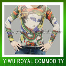 Cool Design Temporary Fake Tattoo Sleeve Shirts
